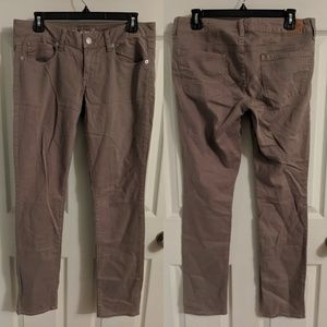 American Eagle Outfitters taupe skinny jeans